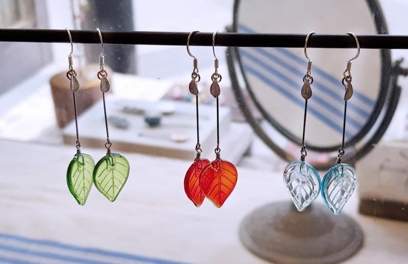 유리나뭇잎귀걸이 - 은나무, 19,000원, 진주/원석, 드롭귀걸이