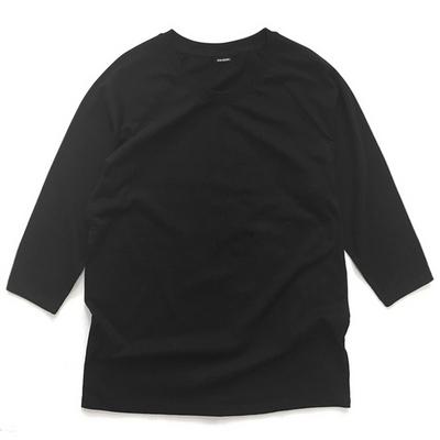 reiku raglan baseball T black 무지 나그랑 티셔츠