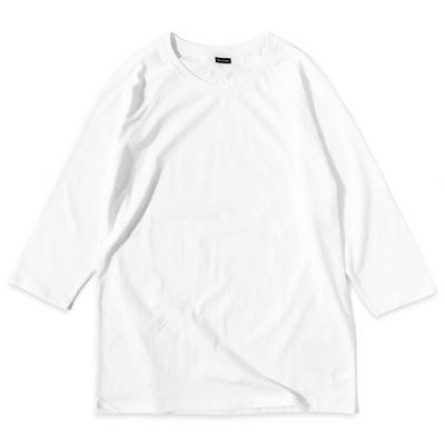 reiku raglan baseball T white 무지 나그랑 티셔츠