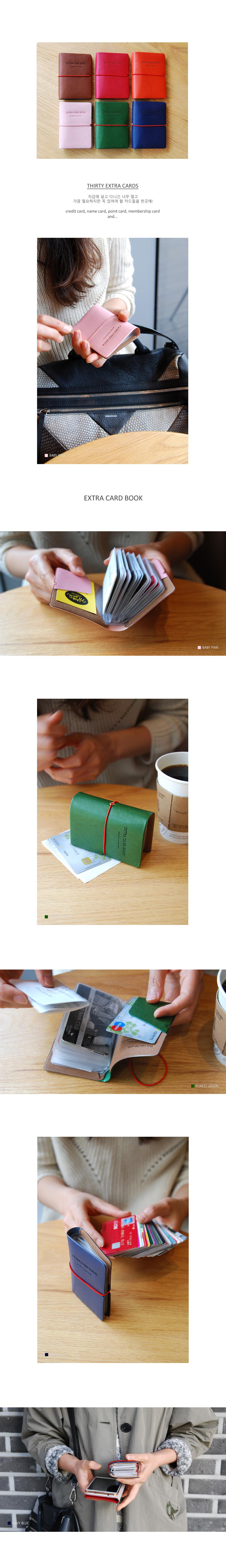 Extra Card Book - 플레픽, 8,800원, 동전/카드지갑, 카드지갑