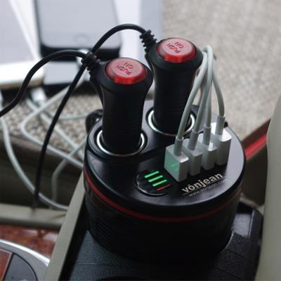 VCC-509Q 차량용 QC3.0 컵홀더 시거잭-USB 멀티 고속 충전기
