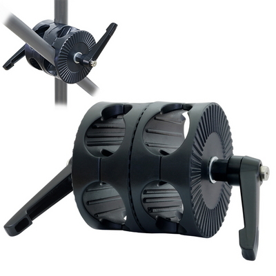 본젠 KM-729 듀얼그립 헤드 + KM-343H 익스텐션 2단 컬럼 SET (카메라 액션캠 수직촬영 등)