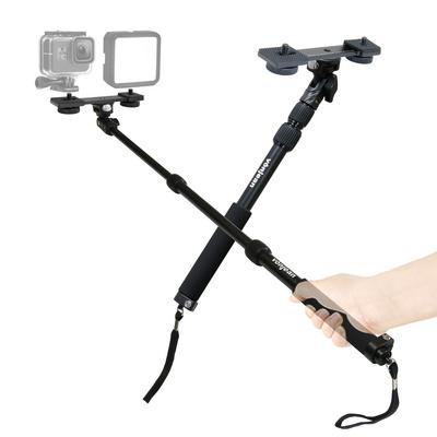 MT-488 카메라 액션캠 셀카봉 + KP-033SP 듀얼 브라켓