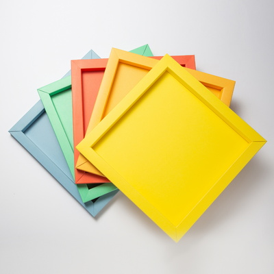 컬러풀 종이액자 5색 DIY 세트