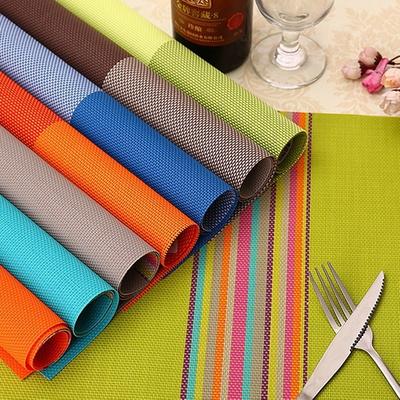 식탁 테이블 인테리어 짜임패턴 디자인 테이블 매트