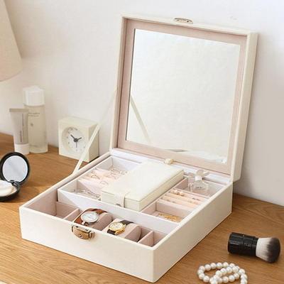 결혼예물 반지 시계 명품보관 주얼리 가죽 수납케이스