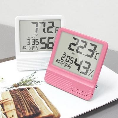 쾌적한 실내환경 대형LCD 디지털 온습도 탁상알람시계