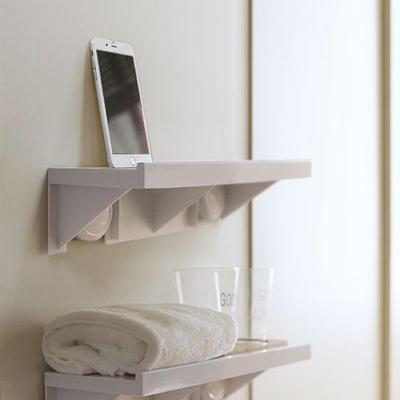 욕실 거실 주방 무타공 스마트폰 거치 심플 벽 선반