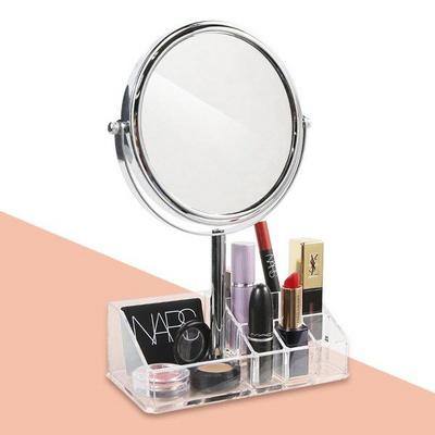 3배 확대 양면거울 화장품 립스틱 정리 뷰티박스