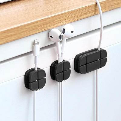 USB 스마트폰 이어폰 선정리 크로스 케이블 홀더 3EA