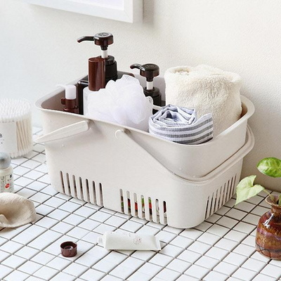 욕실용품 수납정리 물빠짐 목욕바구니