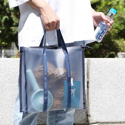 여행 여름휴양지 목욕 수영가방 PVC 방수 투명비치백