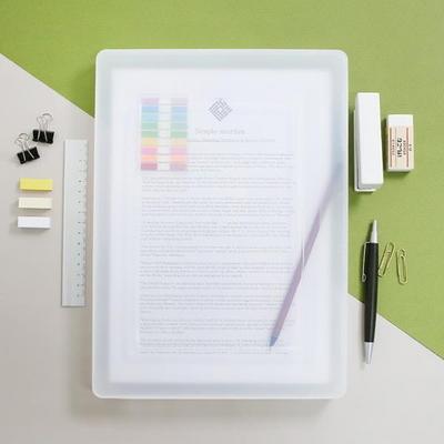 사무실 대학교 학원 A4서류 투명파일케이스 소형 FC02