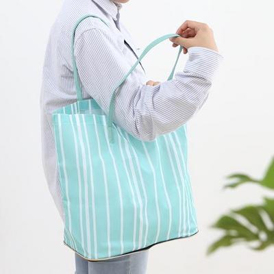 환경보호 마트쇼핑백 포켓장바구니 에코파우치 STRIPE