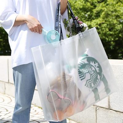 여행 여름바캉스 쇼핑 장바구니 대형 방수 투명비치백