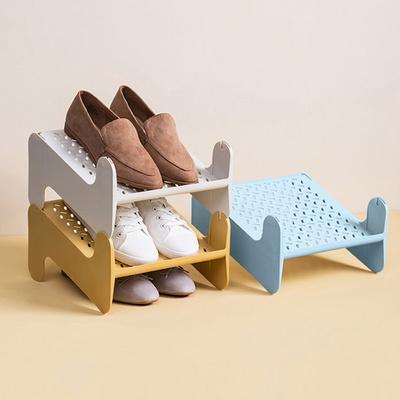 좁은현관 구두 신발정리대 높이조절 와이드 슈즈랙