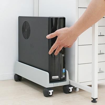 컴퓨터 이동식휠 폭조절 쿨링받침대 슬림형 PC캐리어