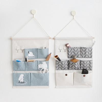 홈리빙 인테리어 공간활용 패브릭 벽걸이형 수납 포켓