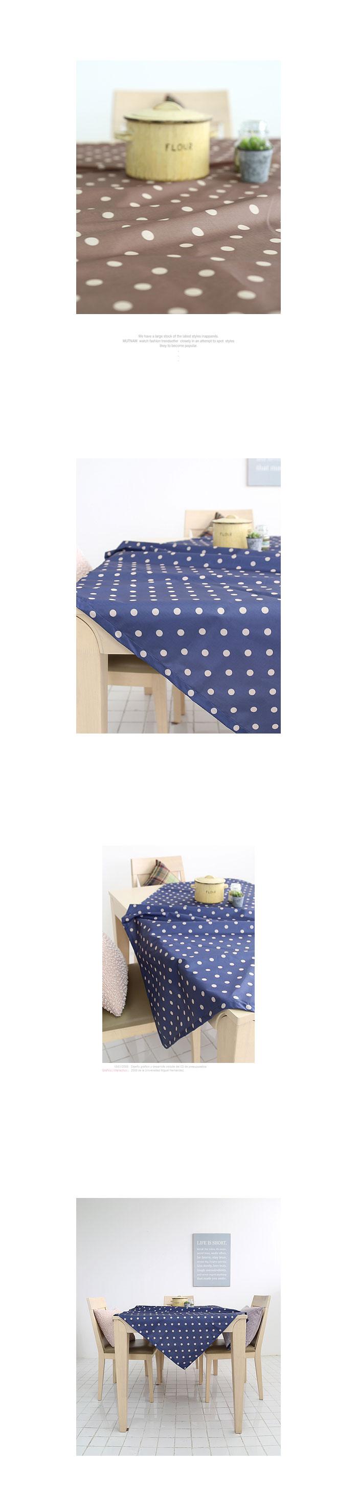써클도트 테이블커버(2color-2size) - 안나하우스, 11,000원, 식탁, 식탁보