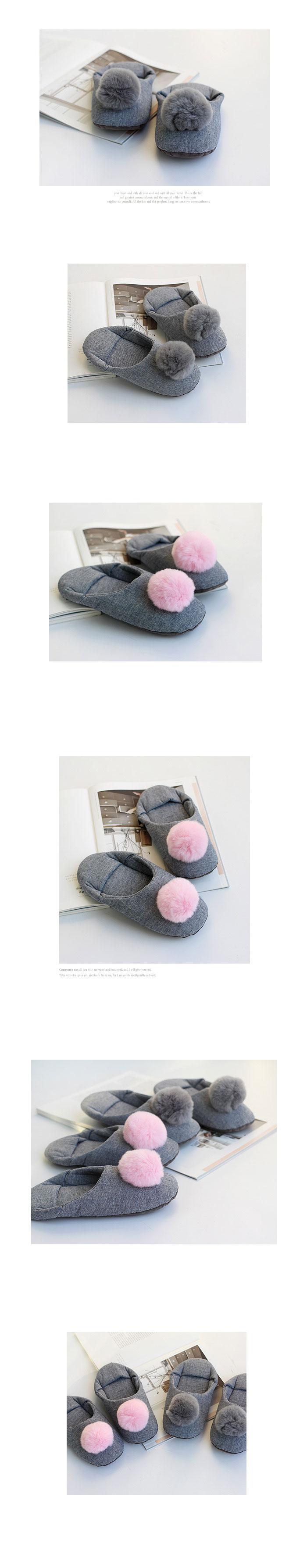 퍼방울 코지실내화 (2color) annahouse - 안나하우스, 11,500원, 슬리퍼/거실화, 덮개형