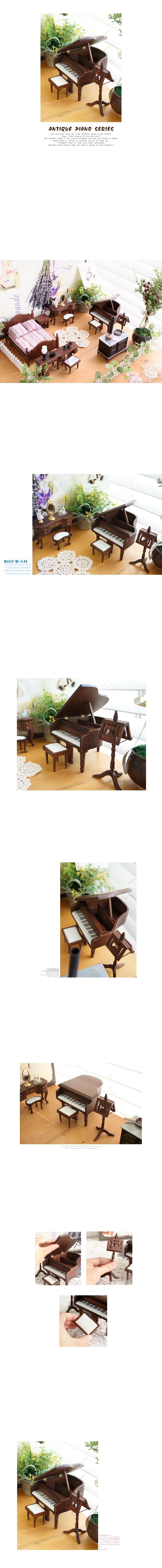 미니어처 엔틱 피아노 - annahouse - 안나하우스, 41,900원, 장식소품, 엔틱오브제