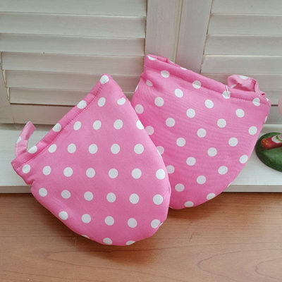 도트 핑크 주방장갑(양손)