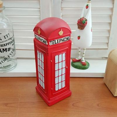 인테리어 장식소품 엔틱 영국 전화박스모형