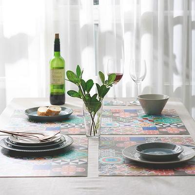 아다마알마) 스페니쉬 패턴 방수 식탁 테이블매트 45x33cm 1p - 5type