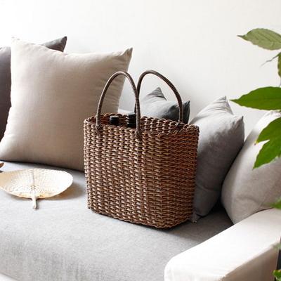 라탄 와이어 빨대 가방 (목욕가방수영장가방비치백물놀이가방) - 2color