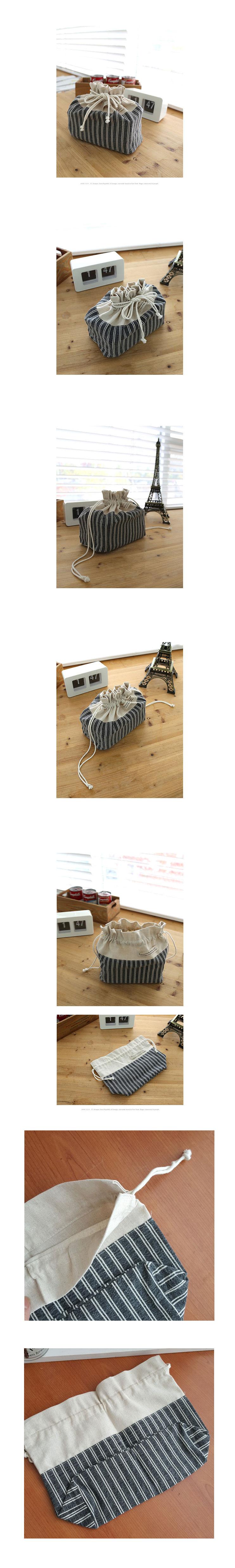 워싱스트라이프 스트링파우치 1p - 안나하우스, 9,500원, 다용도파우치, 끈/주머니형