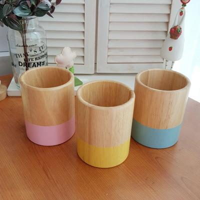 아카시아 컬러우드 원형 다용도꽂이 1p (3color)