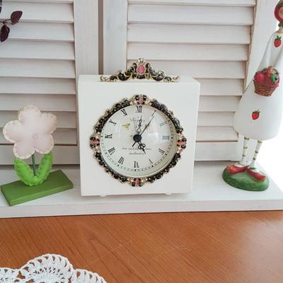 큐빅 탁상 시계 1p (사각)