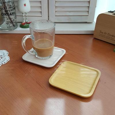 컬러 사각 컵받침 1p (소)
