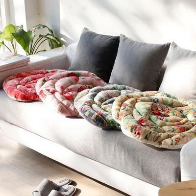 장미 무늬 극세사 방석 - 4color