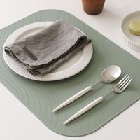 (국산) 파스텔 실리콘 웨이브 양면 식탁매트1p - 4color