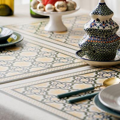(아다마알마) 패턴 방수 식탁 테이블매트- 6type