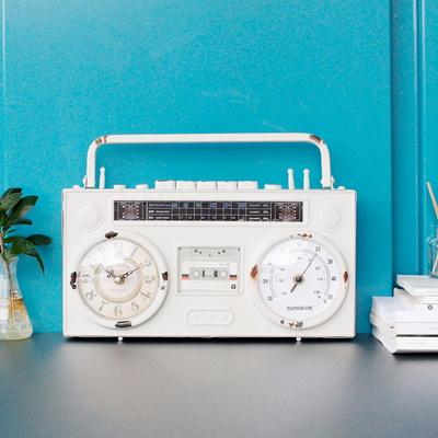인테리어소품  빈티지 라디오 시계 1p-2color