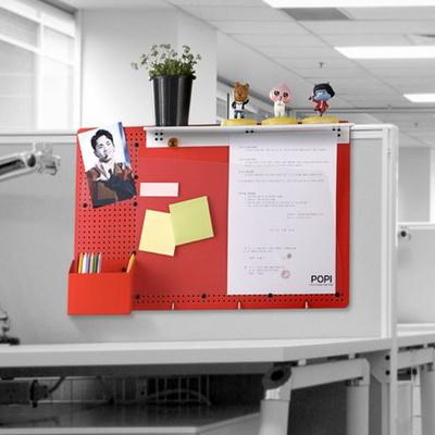 파티션걸이 칸막이선반 책상정리 책상선반 타공판