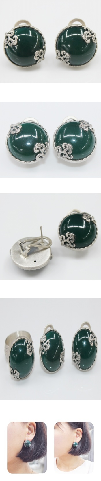 추마노 추만옥 귀걸이 - 오이수공예, 250,000원, 진주/원석, 볼귀걸이