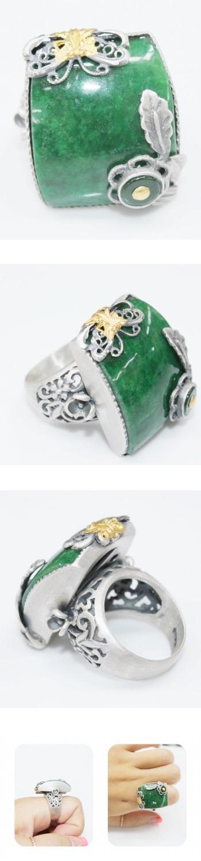 네모 비취반지 - 오이수공예, 250,000원, 실버, 진주/원석반지