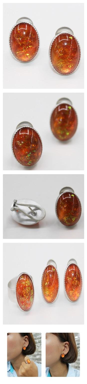 포인트 오팔귀걸이 - 오이수공예, 290,000원, 진주/원석, 볼귀걸이