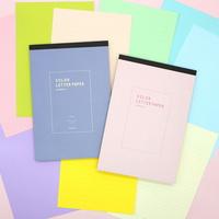 8000 컬러 패드편지지 (색지) (랜덤발송)