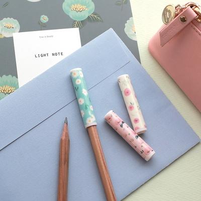 1000 꽃길 연필캡 6P (랜덤발송)
