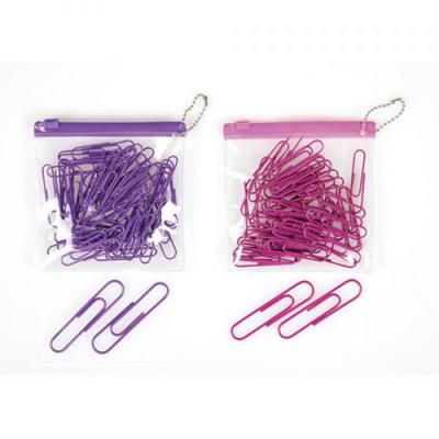 컬러 페이퍼클립(zip bag/50mm/퍼플/Syloon)