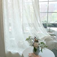 bouquet-레이스 커튼