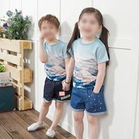 [디쿠] 마운틴 나염 유아 티셔츠 반팔