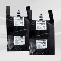 이라이프 비닐 쇼핑 봉투 (특대) 흑색 100매 x 2개 /손잡이 봉투