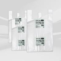 이라이프 비닐 쇼핑 봉투 (대) 백색 100매 x 3개/ 손잡이 봉투