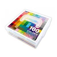 종이나라 500매100컬러단면색종이(케이스) 100color