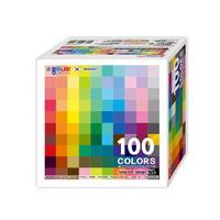 종이나라 대용량1000매100컬러단면색종이 100color